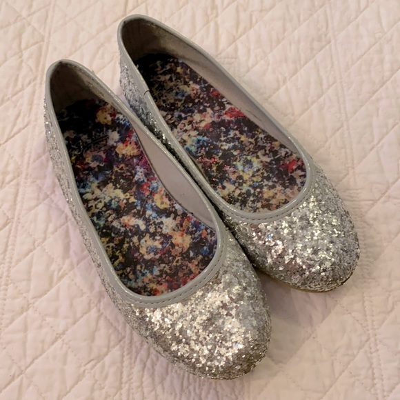 Faded Glory Glitter Sparkle Ballet Flats